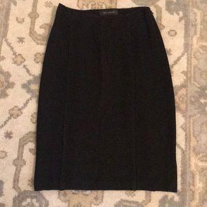 St. John Black Knit Pencil Skirt